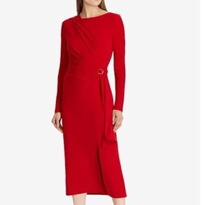 NWT Lauren Ralph Lauren Red Jersey Dress